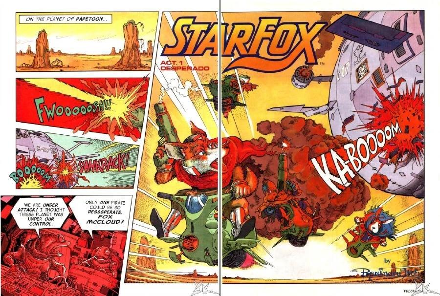 Star Fox Nintendo Power Comic Arwingpedia FANDOM