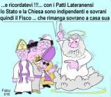"""L'art. 7 recita: """"Lo Stato e la Chiesa cattolica sono, ciascuno nel proprio ambito, indipendenti e sovrani"""" Ma Fabio Buffa ironizza."""
