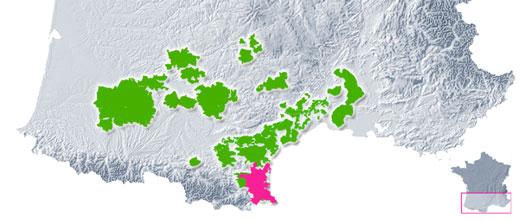 Aire de production du Muscat de Rivesaltes