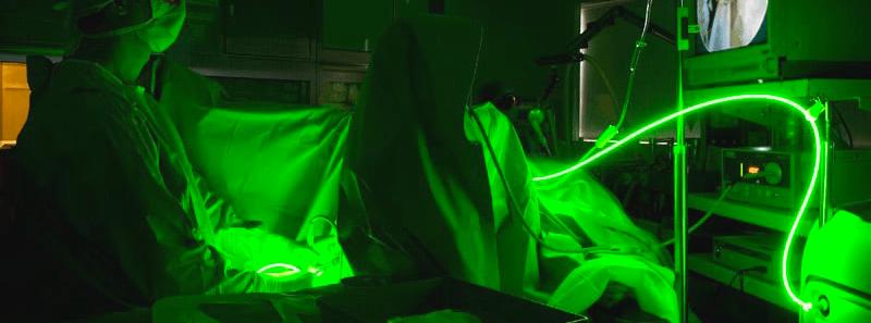 LASER verde como tratamiento de la hiperplasia de próstata.