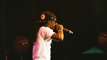 Photo of Lil Wayne in Scranton taken by Leon Laing.