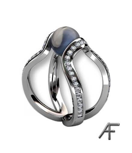 air - vitguldsring med diamanter