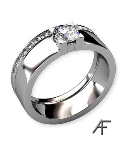 alliansring enstensring 0.50 ct