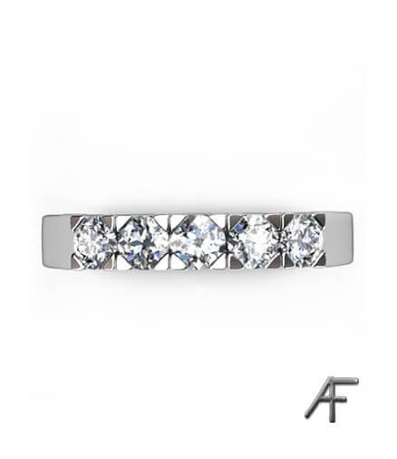alliansring vitguld 5 st diamanter