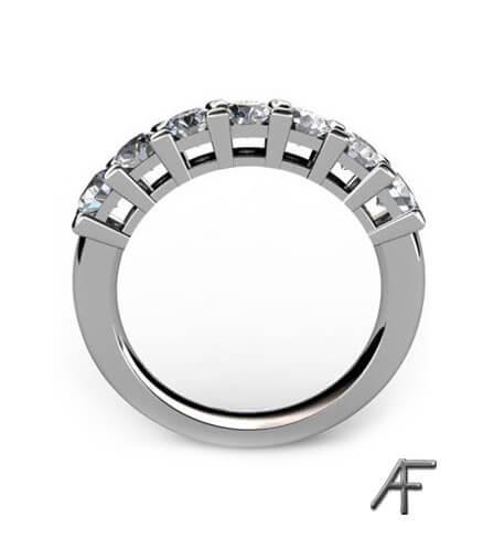 alliansring vitguld 7 st diamanter