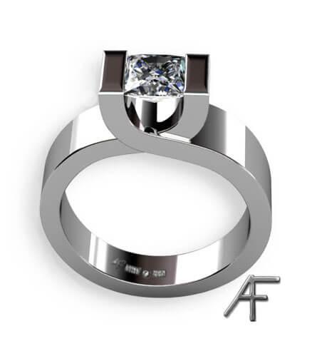 crossing vitguld med diamant