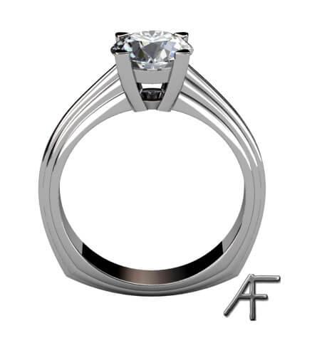diamant enstensring vitguld