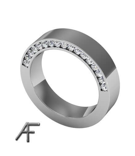 flack platinaring diamanter