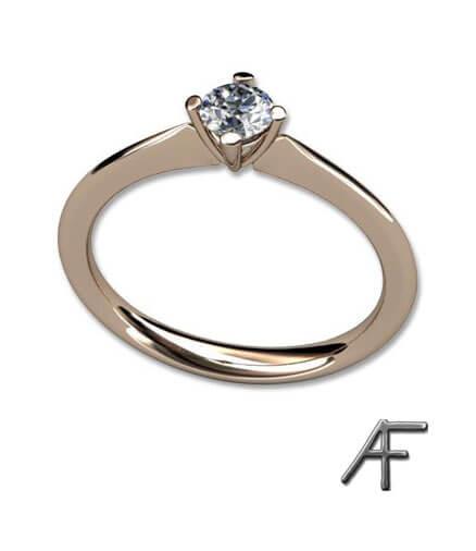 diamantring med fyra klor