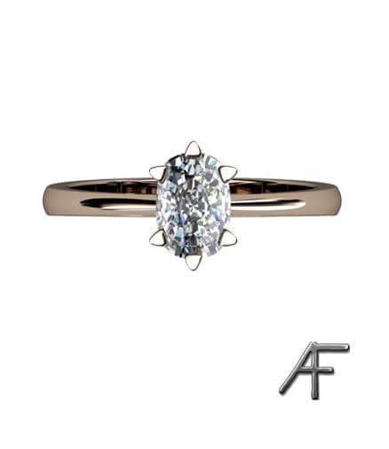 enstens guldring cusion slipad diamant