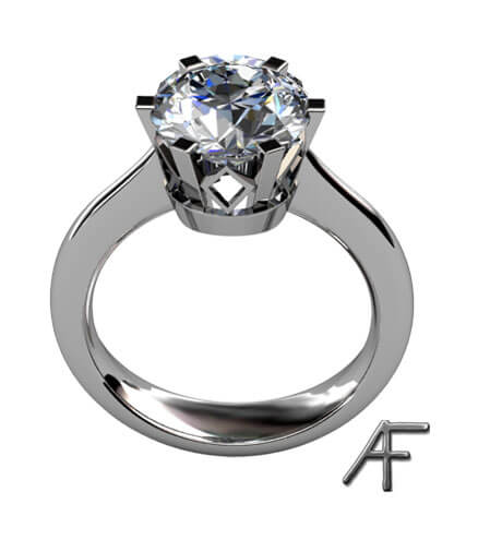 stor briljantslipad diamant 3.0 ct