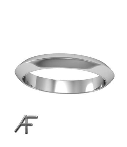triangle platina ring