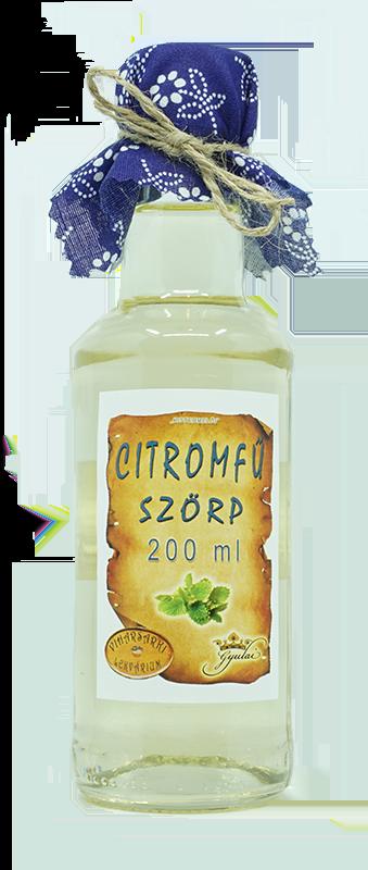 Citromfű szörp (200 ml)