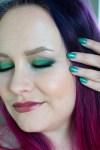 Vihreää kimallusta – meikki ja kynnet sävy sävyyn
