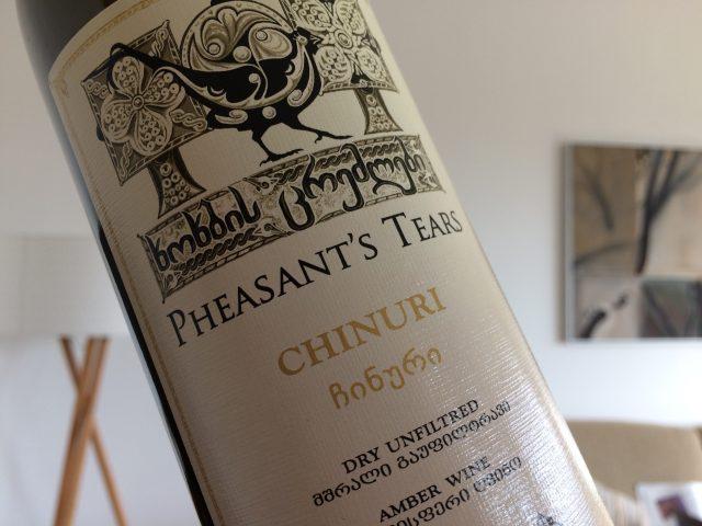 Pheasant's Tears Chinuri oranssi viini