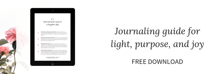 Journaling guide for happiness! Get your free download and journal your way to happiness with these 12 journaling prompts