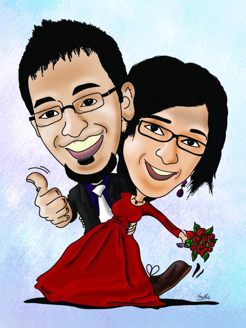 cartoonist for wedding | deweddingjpg.com