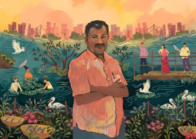 Jakkur lake champion Illustration - ShriyaSingh_Mongabay