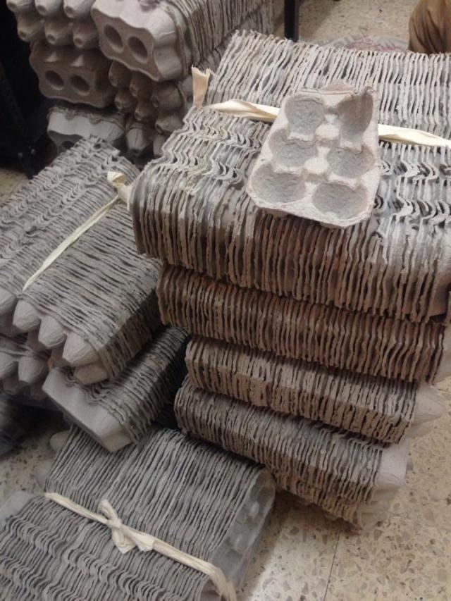 Egg crates are a simple household waste item