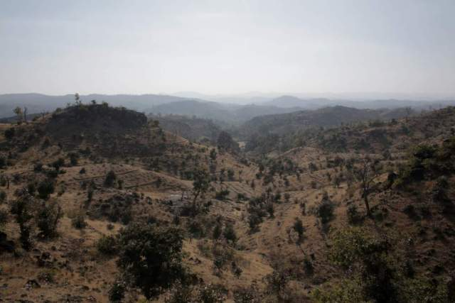 Once thick forest, this region was destroyed shortly after India got independence when the lands were handed over to the forest department, who in turn sold most of the trees to charcoal producers in the area. Charcoal making is now an illegal activity in the area but is still practiced in some parts.