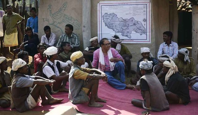 Centre of attention: Biswas has been working for the welfare of the Baiga tribe for two decades.