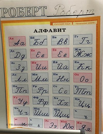vika raskina - alphabet