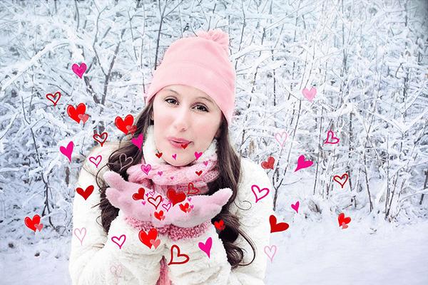 vika raskina - woman with hearts