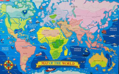 Легкие игры на развитие речи. Играем в географию.