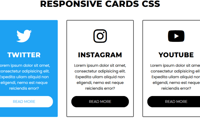 Pure CSS Responsive Cards Design with Hover Effect