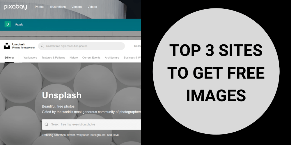 Top 3 sites to get free images for website or blog