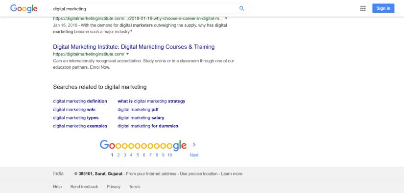 Google Related Keyword Search for Digital Marketing