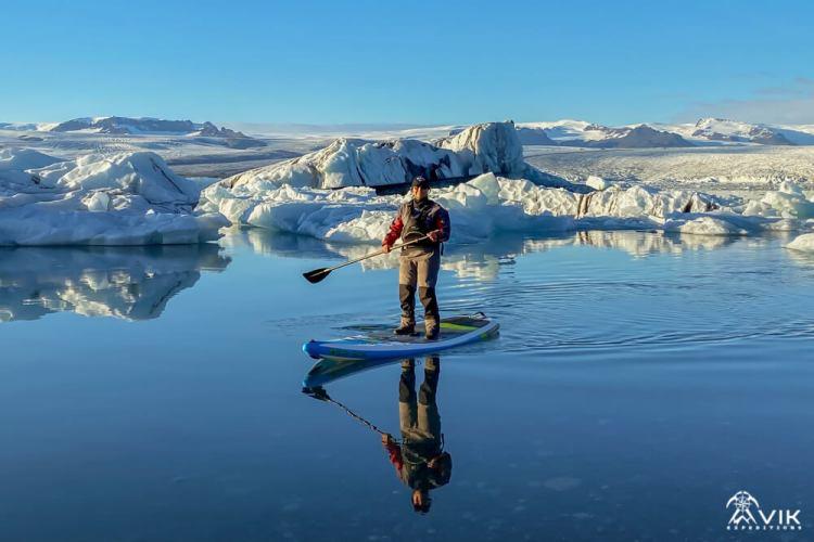 Iceland SUP on a Glacier Lagoon