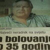 NAJVEĆI NERADNIK NA SVIJETU: Bio na lažnom bolovanju 35 godina, pa otišao direktno u penziju!