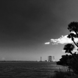 Launchpad from viewing area, Kennedy Space Center, Cape Canaveral, FL