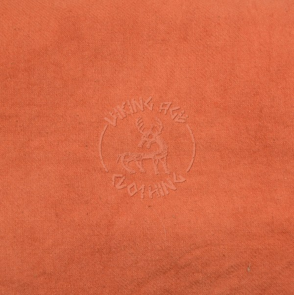 Plant-dyed diagonal 2/2 twill fabric - madder apricot