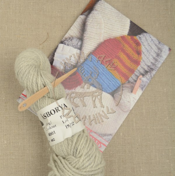 Kit for nalbound mittens from Iceland and Oslo - grey