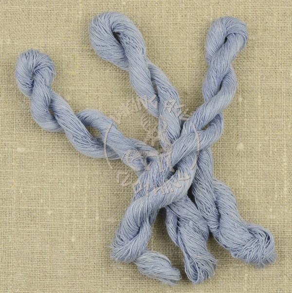 Plant-dyed Bocken's linen thread 60/2 - woad blue