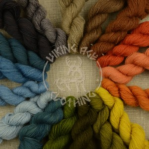 Plant-dyed Mora redgarn - all colours