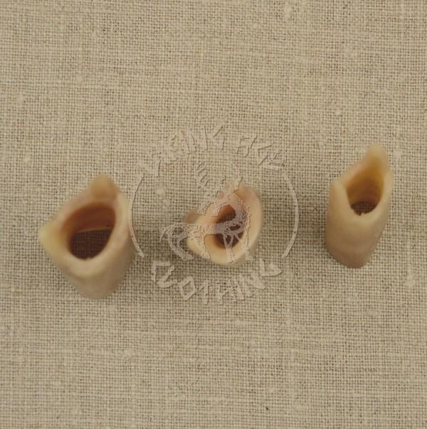 Handmade bone lucets, top