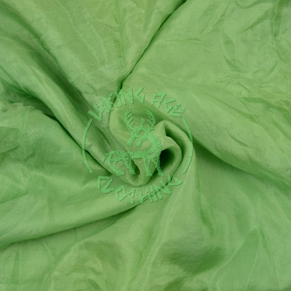 Plant-dyed silk shawl - woad and weld green