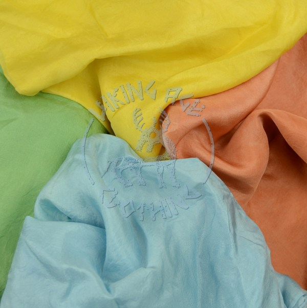 Plant-dyed silk shawls - four colours