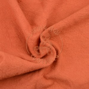 Plant-dyed plain weave fabric - madder apricot