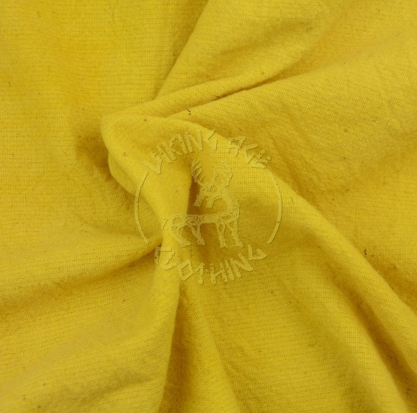 Plan-dyed plain weave fabric - weld yellow