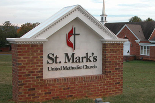 st. mark's church sign viking forge design