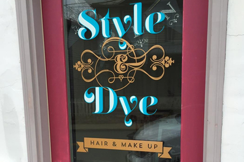 style and dye glass door vinyl sign viking forge design