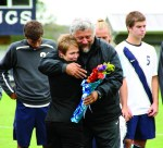 Canalis with Kim Treece on Senior Day Fall 2013