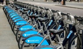 Boris Bikes, London. Flickr (c) PaulSh