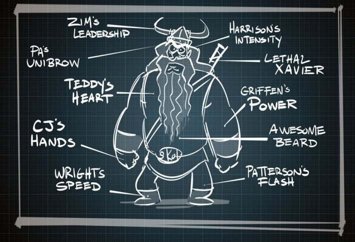 Vikings Blueprint by Matt Engstrom