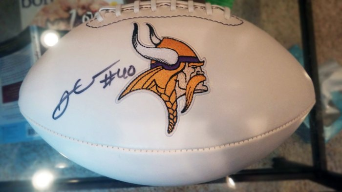 Kleinsasser Autographed Football