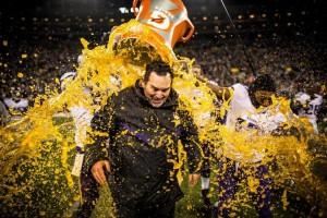 Vikings 2012 Season Is A Success - Mike Zimmer gets Gatorade bath